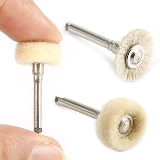 Dental Wool Polishing Flat Brush Grinder Brushes for Low Speed Machine Accessories