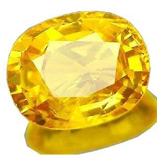 8.50 carat 100 AAA+++ quality yellow sapphire(pukhraj) by lab certified