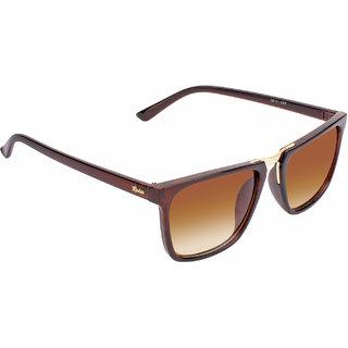 Redex Unisex Brown Rectangle Sunglasses ( 1309 )