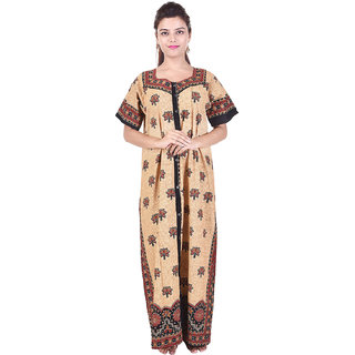 Silver Organisation Multicolor Printed Night Gowns & Nighty
