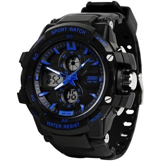 New Skmei WR30M Dual Time Analog ANd Digital Watch For Men