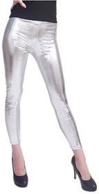 High Fashioned Silver Mettalic Leggings