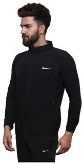 Nike1 Black Polyester Terry Jacket