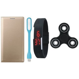 Moto E3 Power Stylish Cover with Spinner, Digital Watch and USB LED Light