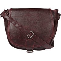 Style Loft Leather Brown Sling Bag Cross Body For Women
