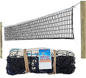 Queen Sports Volleyball Net Premium quality Nylon Braided Black Standard Size for Sports Training Practice and Fun