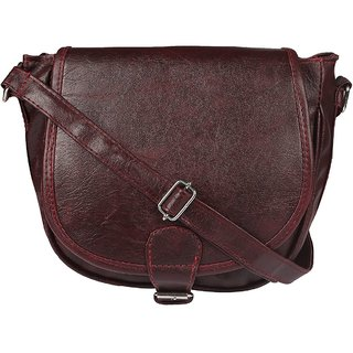 a2380f6b7146 Buy Style loft Leather Brown Sling Bag Cross Body for Women Girls(SL ...