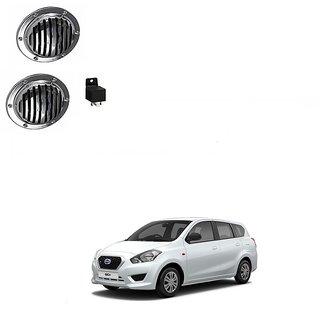 Hella Car Silver Midi Horn Set Of 2 For Datsun Redi GO