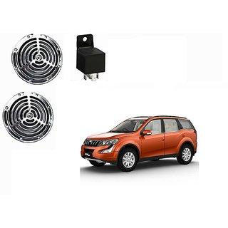 Roots Megasonic 125DB 12V/24V Car Horns Set Of 2 +  Horn Relay For Mahindra XUV500