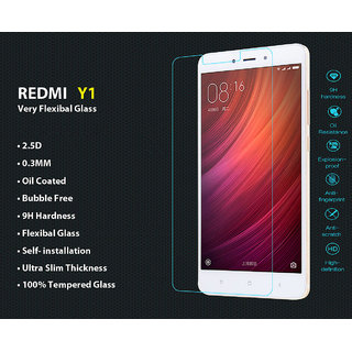 Redmi Y1      Flexible Premium Quality 2.5D Tempered Glass