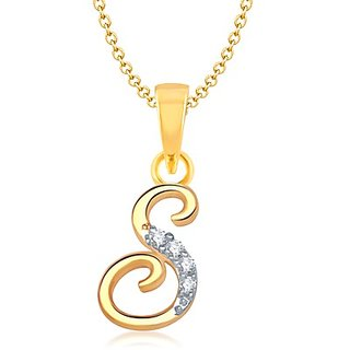 VK Jewels Gold Plated Gold Pendant Only For Women