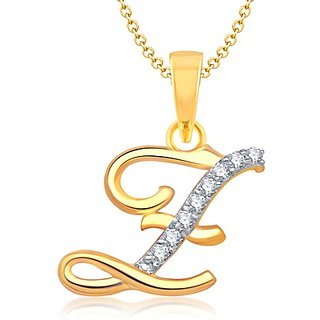 Vk Jewels Alphabet Collection Initial Pendant Letter