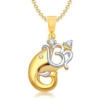 Vk Jewels Gold Plated Silver  Golden Alloy Chain For Women