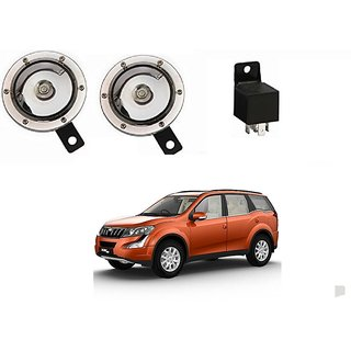 Roots Cleartone 110DB Car Horn Set Of 2 For Mahindra XUV500 +  Horn Relay