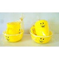 Kids Fashion-Combo of Smiley Mug and Bowl with Spoon (Set of 2)