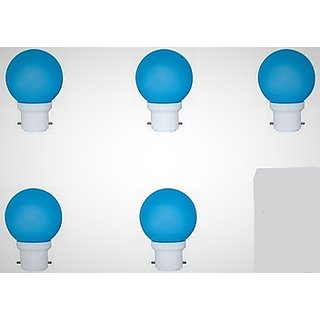 5 watt LED blue lamp combo of 5pcs. power saver bulb with 1 year replacement warranty