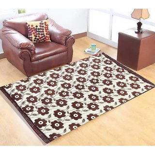Manvi Creations New Floral Chenille Carpet