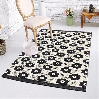 Manvi Creations New Floral Chenille Carpet