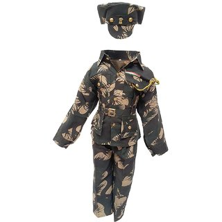 Raj Costume Indian Military Soldier Fancy Dress Costume for Kids