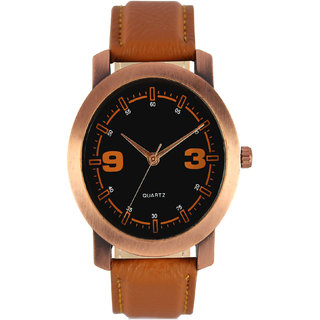 The Shopoholic Analog Multicolour Dial Brown Leather Belt Watches For Men-Boys Watch