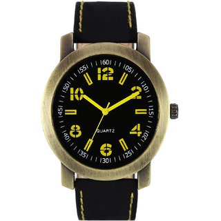 The Shopoholic Analog Multicolor Attractive Dial Black Leather Belt Watches For Men-Watches Boys
