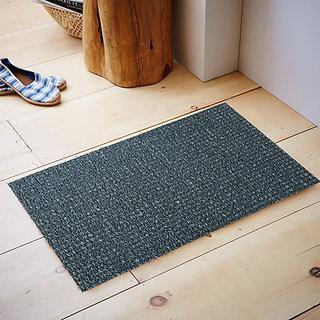 Kuber Industries Dirt Rubb Off Clean Footwear PVC Thick Doormat for Offices,Hotel ,Restaurtaurant, Home,Shop Color- Grey Size : 60 cm x 38 cm x 1.5 cm