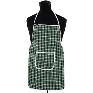 Kuber Industries Check Design Kitchen Apron (Reversible) Can be used in both sides