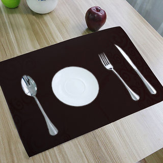 Kuber Industries PVC Dining Table Placemats / Multi Purpose Mats Set Of 6 Pcs