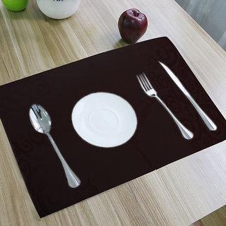 Kuber Industries PVC Dining Table Placemats Multi Purpose Mats Set Of 6 Pcs