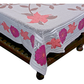 6597222fae0 Buy Kuber Industries Center Table Cream Floral Design with Pink Flowers Cloth  Net 40 60 Inches (Shining Cloth) Online - Get 50% Off