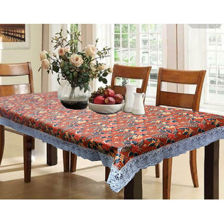 Kuber Industries Dining Table Cover Waterproof Floral 6 Seater 60X90 Inches( Exclusive Design)