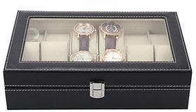 High-Grade 6 PU Leather Watch Storage Display Box