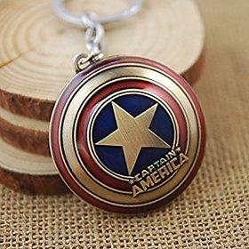 Kudos Pair of Captain America - Key chain for Car/Bike (set of 2)