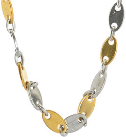 Sanaa Creations Mens Style Stainless Steel Silver,Gold Plated Rhodium Coated Chain for boys  Mens Daily/Party Wear