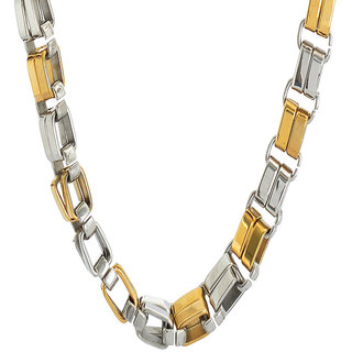 Sanaa Creations Mens Style Stainless Steel Silver,Gold Rhodium Plated Mens chain Daily/Party Wear Stylish Fashion Jewell