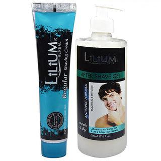 Lilium Herbal Shaving Cream With After Shaving Gel