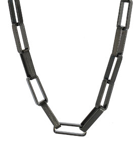 Sanaa Creations Style StainlessSteel black,silver plated Alloy Designer Rhodium Elegant black chain (new year offer)