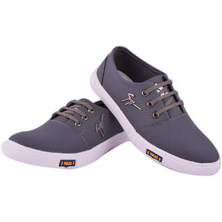 Footfit  Men's Gray Lace-up Sneakers