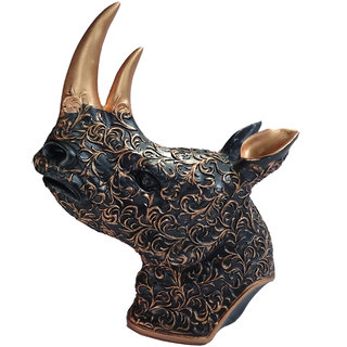 Paras magic Copper Rhinoceros Showpiece