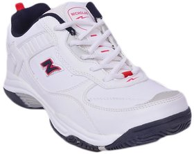 Nicholas White  Red Running Sports Shoes For Men
