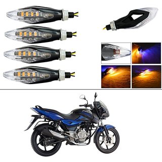 AutoStark Motorcycle LED Turn Signal Indicators Set of 4 Light Lamp For  Bajaj Pulsar 150