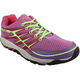 Fuel Womens Girls Laced Up Solid Walking Shoes Cycling Shoes Training Gym Shoes Running Shoes