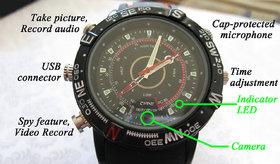 4GB Sports Wrist Watch Spy Hidden Camera
