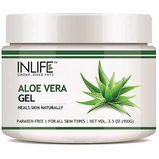 INLIFE Natural Aloe Vera Face Gel 100 gm