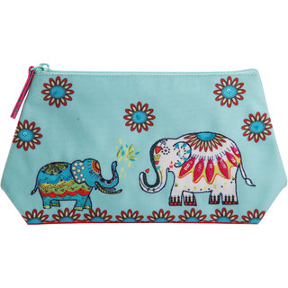 Pinaken Jumbo-Trunk Embroidered Embellished Multicolor Cosmetic Bag