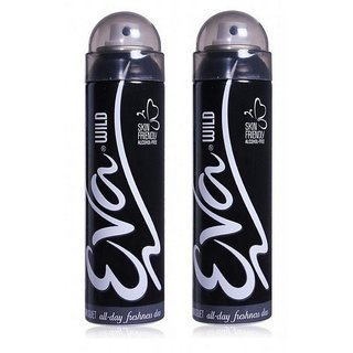 Eva Wild Deodorant Spray for Women Combo Pack of 2 (125ML each) 250ML