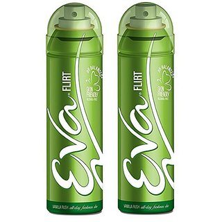 Eva Flirt Deodorant Spray for Women Combo Pack of 2 125ML each 250ML