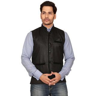 Conway Cotton  Black  Nehru Jacket