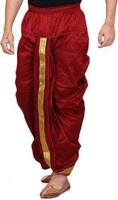 Conway Maroon  Silk Ready Made Dhoti