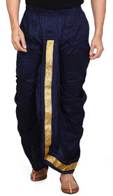 Conway Blue Silk Ready Made Dhoti
